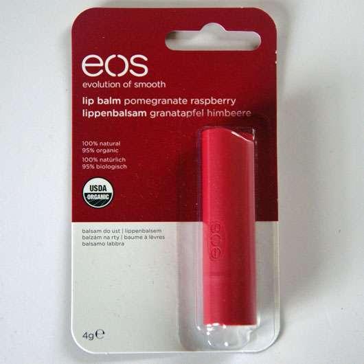 eos Smooth Spheres Organic Lip Balm, Sorte: Pomegranate Raspberry (Stift) Verpackung
