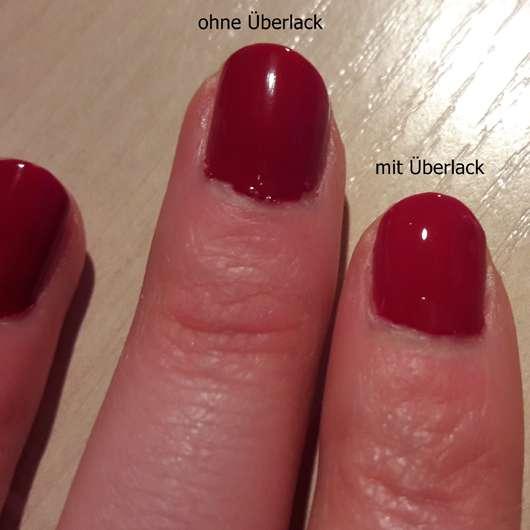 essence ultra gloss nail shine top coat auf den Fingern