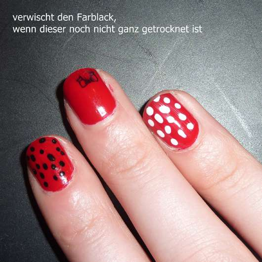 essence ultra gloss nail shine top coat auf rotem Farblack