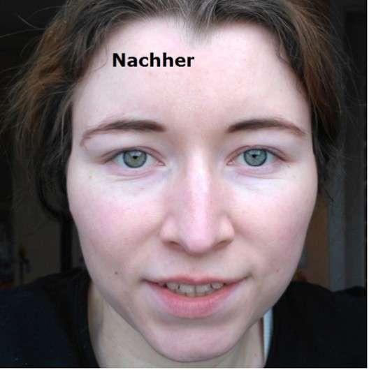 Gesicht nach der Anwendung der Kivvi cosmetics 24h Balancing Facial Cream