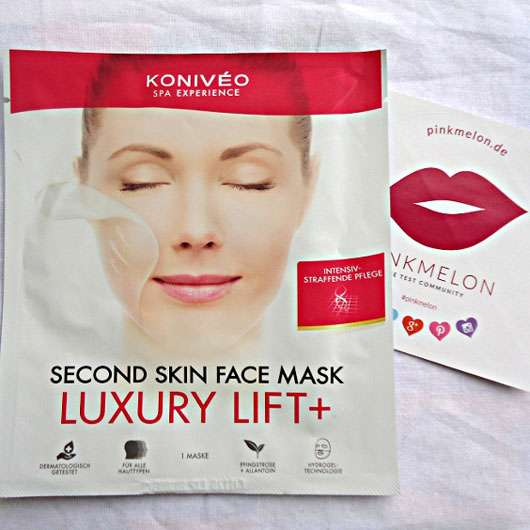 KONIVÉO Second Skin Face Mask LUXURY LIFT+ Verpackung