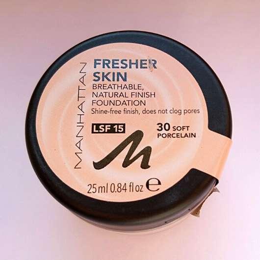 Manhattan Fresher Skin Foundation, Farbe: 30 Soft Porcelain - Tiegel
