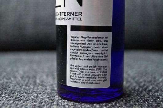 OZN Nagellackentferner - Audrucke auf der Flasche