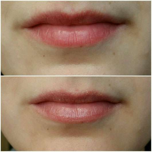 p2 most loved cosiness charming nude lip tint balm, Farbe: 020 satin touch (LE) auf den Lippen