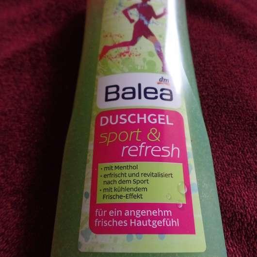 Etikett vom Balea Duschgel sport & refresh