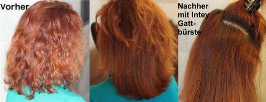 INTEY Elektrische Glättungsbürste Haare vor her und nachher
