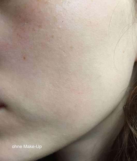 alverde Kompakt Make-up, Farbe: 020 honig-gold vorher
