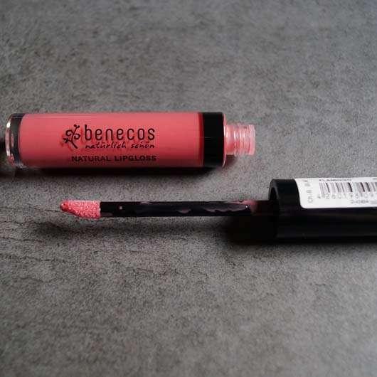 Applikator vom benecos Natural Lipgloss - Farbe: Flamingo