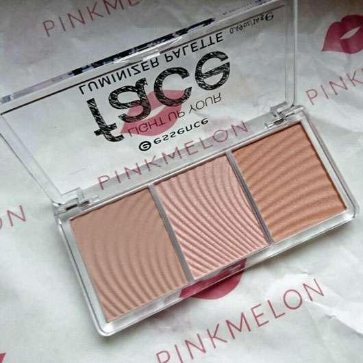 essence light up your face luminizer palette, Farbe: 10 ready, set, glow! - geöffnet