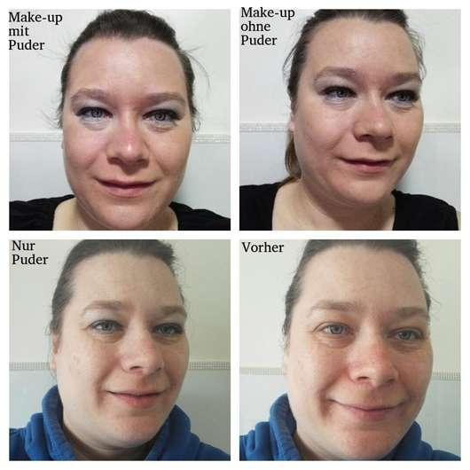 essence little beauty angels colour correcting anti-redness loose setting powder (LE) auf dem Gesicht