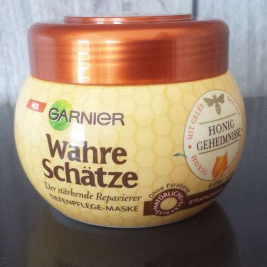 <strong>Garnier Wahre Schätze</strong> Der stärkende Reparierer Tiefenpflege-Maske Honig-Geheimnisse