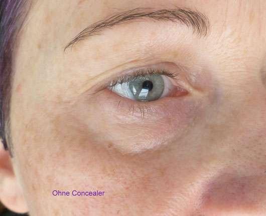 just cosmetics expert 16h puffy eyes concealer, Farbe: 010 light vorher