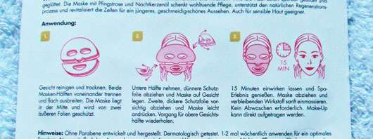 KONIVÉO Second Skin Face Mask LUXURY LIFT+ Rückseite Sachet