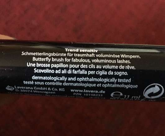 Herstellerversprechen der lavera Butterfly Effect Mascara, Farbe: Beautiful Black