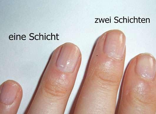 LCN Nail Polish, Farbe: my wedding day (LE) - auf dem Nagel aufgetragen