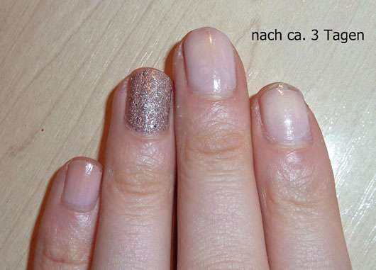 LCN Nail Polish, Farbe: my wedding day (LE) - nach 3 Tagen auf den Nägeln