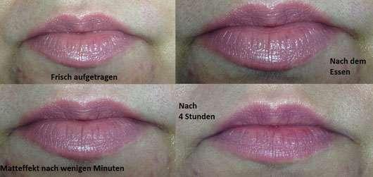 M·A·C Lipstick, Farbe: Velvet Teddy - Collage der Lippen
