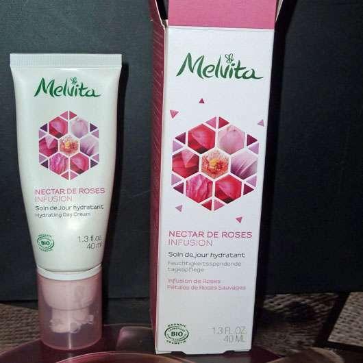 Melvita Nectar De Roses Feuchtigkeitsspendende Tagespflege - Verpackung und Tube