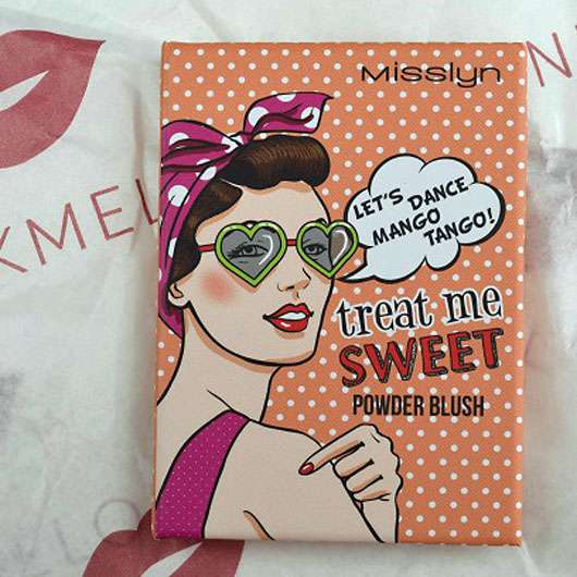 Misslyn Treat Me Sweet Powder Blush, Farbe: 38 let's dance mango tango! (LE) - Verpackung