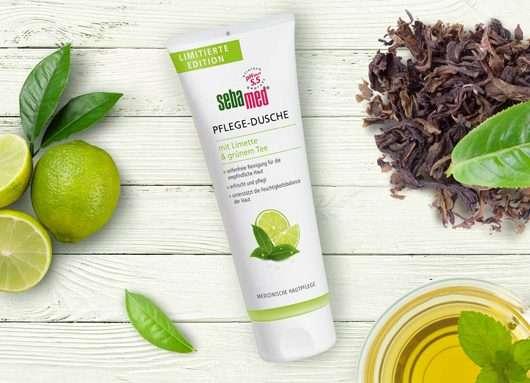 Tube der sebamed Pflege-Dusche mit Limette & grünem Tee