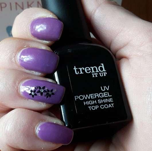 trend IT UP UV Powergel High Shine Top Coat auf den Nägeln