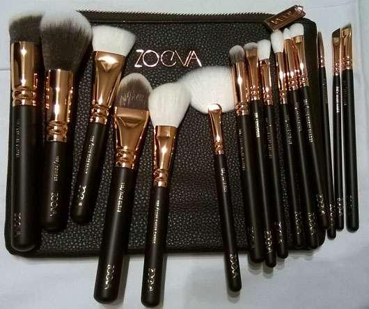 ZOEVA Rose Golden Complete Set Vol. 1 - alle Pinsel ausgepackt
