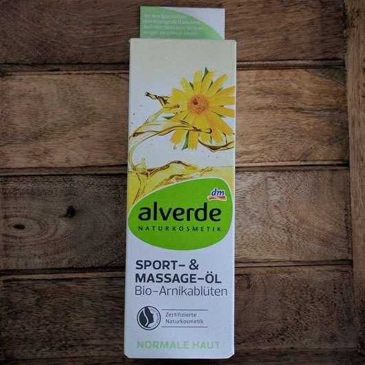 alverde Soprt-& Massageöl Arnikablüten Verpackung