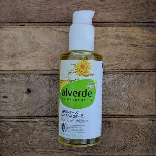 alverde Soprt-& Massageöl Arnikablüten Flasche