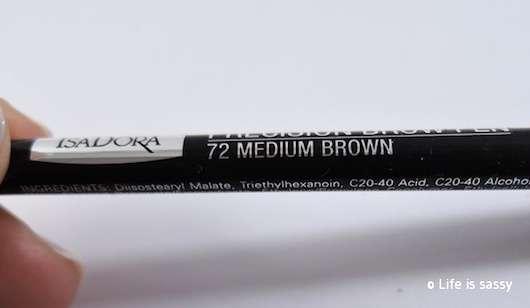 Farbbezeichnung vom IsaDora Precision Brow Pen, Farbe: 72 Medium Brown (LE)
