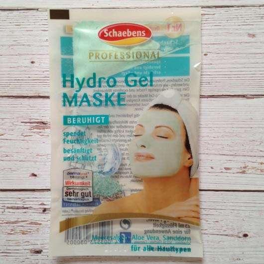 Verpackung der Schaebens Professional Hydro Gel Maske