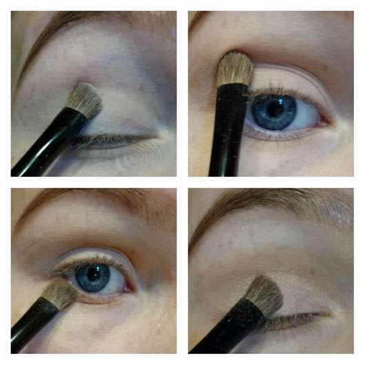 ARTDECO Angled Eyeshadow Brush (LE) - Collage des Auftrages mit dem Pinsel