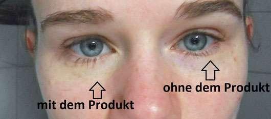 ARTDECO Color Correcting Stick - Vergleich Auge mit und ohne Produkt
