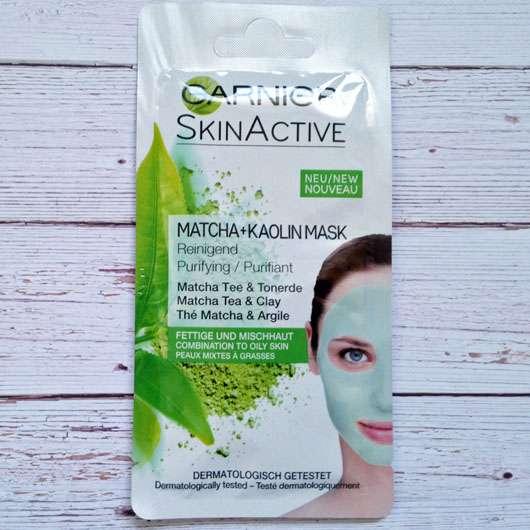 Garnier SkinActive Matcha + Kaolin Mask Verpackung