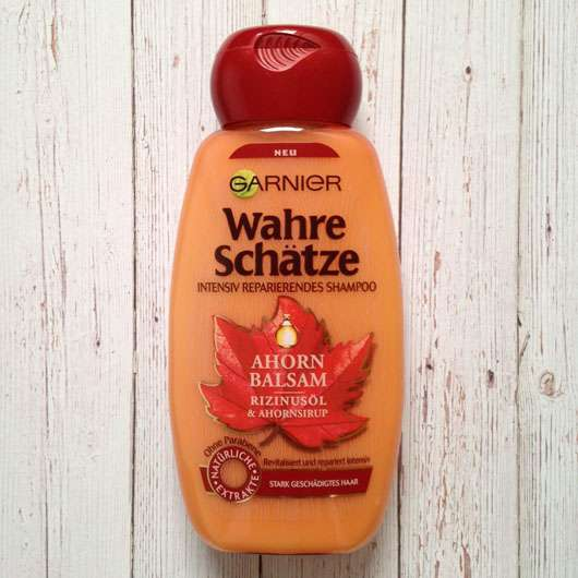 <strong>Garnier Wahre Schätze</strong> Ahorn Balsam & Rizinusöl Intensiv Reparierendes Shampoo