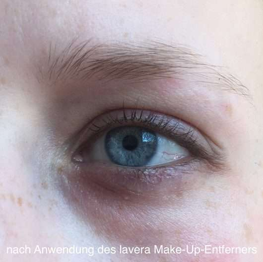 Auge nach Anwendung des lavera Trend sensitiv Eye Make-up Remover