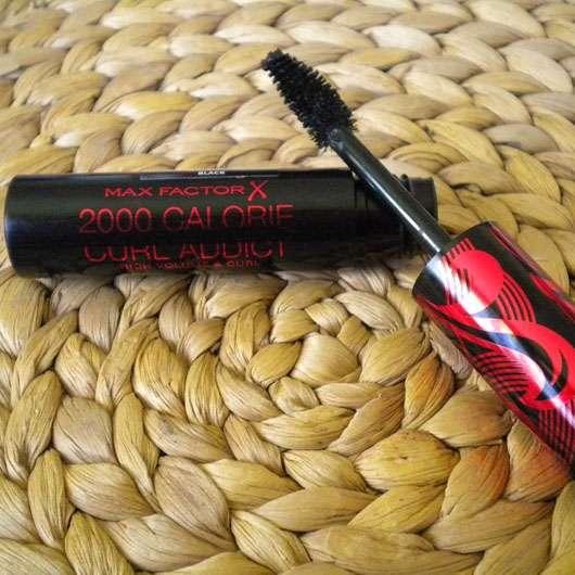 Max Factor 2000 Calorie Curl Addict Mascara, Farbe: Black geöffnet