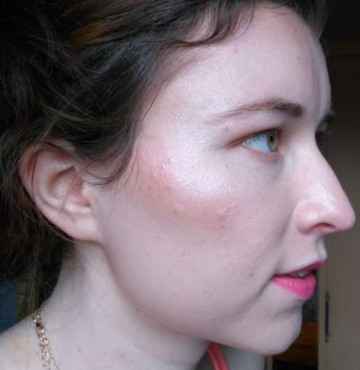geschminktes Gesicht mit NYX Highlight & Contour Pro Palette