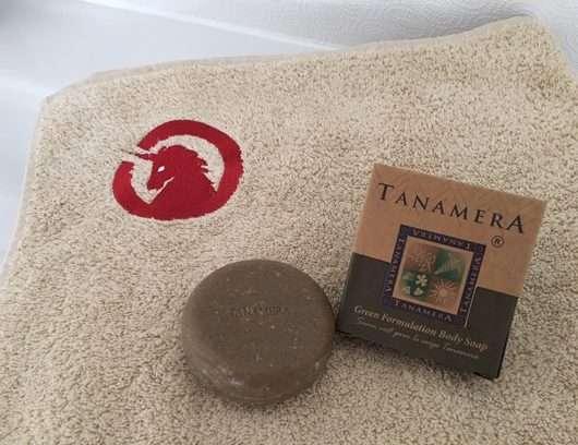 Spa Vivent Einhorn Dusch-/Saunahandtuch + Tanamera® Grüne Kräuter Körperseife