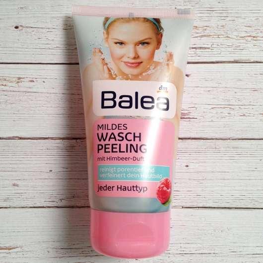 Balea Mildes Waschpeeling mit Himbeer-Duft in der Tube