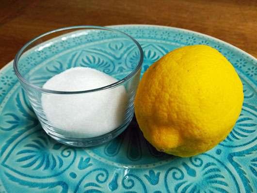 Unreine-Haut-Artikel Zitrone Zucker