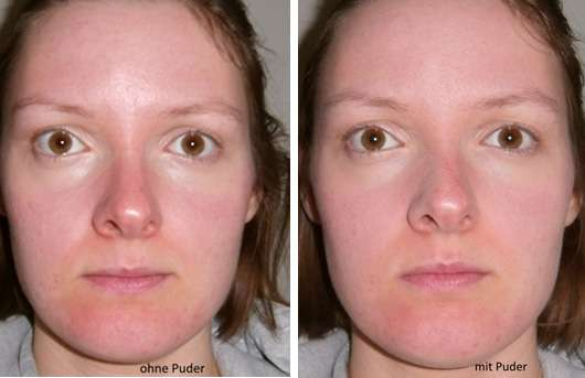 just cosmetics expert finishing powder vorher und nachher