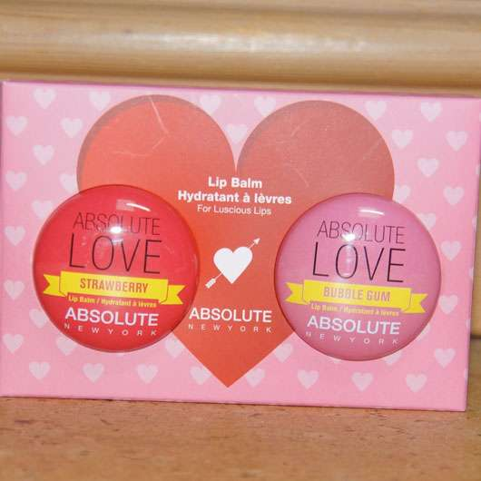 """<strong>ABSOLUTE NEW YORK</strong> Duo Lip Balm """"Absolute Love"""" (Strawberry + Bubble Gum)"""
