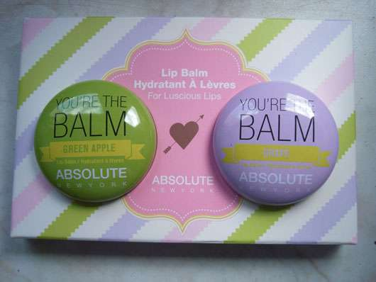 """ABSOLUTE NEW YORK Duo Lip Balm """"You're the balm"""" (Green Apple + Grape) Verpackung"""