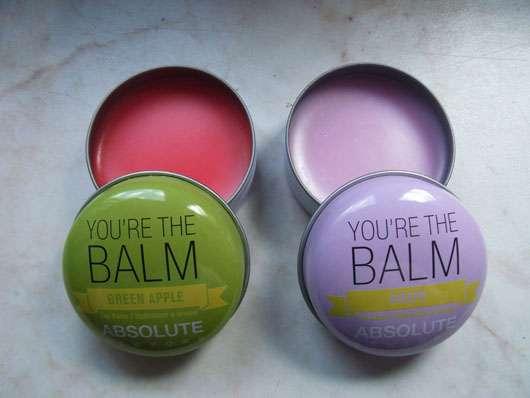 """ABSOLUTE NEW YORK Duo Lip Balm """"You're the balm"""" (Green Apple + Grape) Tiegel geöffnet"""