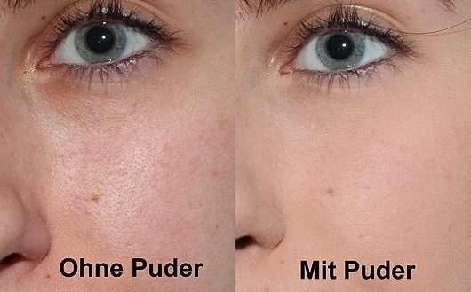 Gesicht ohne/mit bareMinerals BAREPRO Performance Wear Powder Foundation, Farbe: 11 natural