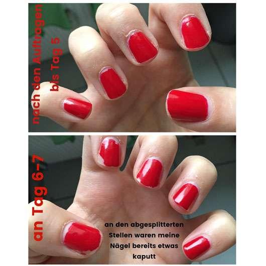 CND VINYLUX Weekly Polish, Farbe: 158 Wildfire - auf den Nägeln aufgetragen