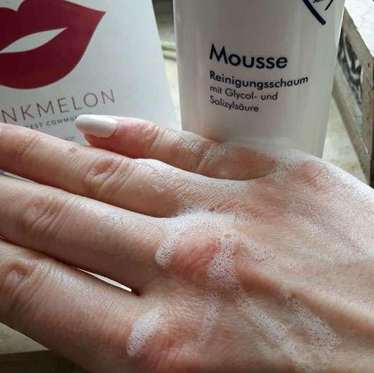 Dermasence Mousse Reinigungsschaum mit Glycol- und Salicylsäure - Konsistenz