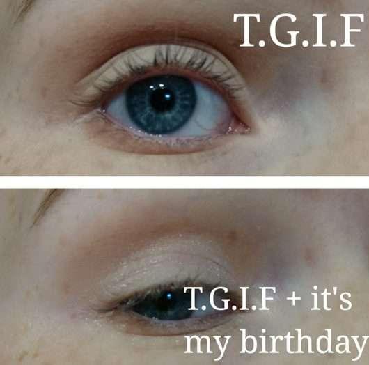 Augen geschminkt mit Produkten aus der essence live. laugh. celebrate! eye/lip/cheek palette (LE)