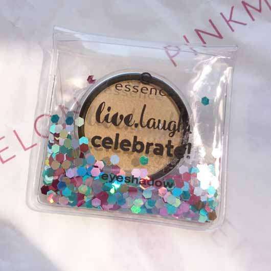 essence live. laugh. celebrate! eyeshadow, Farbe: 07 the sun is shining (LE) Verpackung