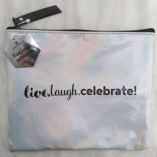 essence live.laugh.celebrate! make-up bag (LE)
